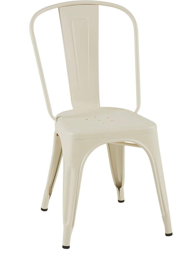 Tolix - A Chair Indoor, Elfenbein matt