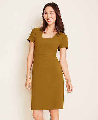Ann Taylor Doubleweave Sheath Dress