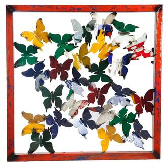 Think Outside Butterfly Framed Wall Panel