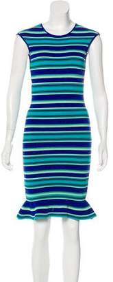 Ronny Kobo Printed Sleeveless Dress