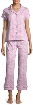 BedHead Painted Damask Short-Sleeve Pajama Set