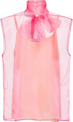 Prada organza sleeveless top