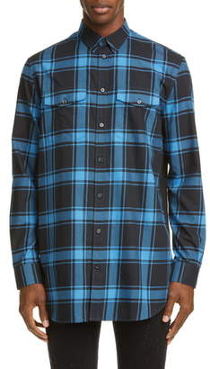 Givenchy Classic Check Button-Down Shirt