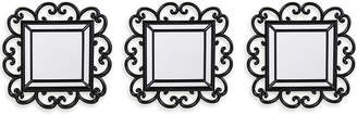 JCPenney Lifetime Brand Set of 3 Black Scroll Mirrors