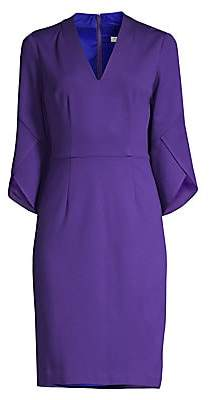 Trina Turk Women's Swish Trumpet-Sleeve Sheath Dress - Size 0
