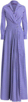 Ralph Lauren Rivera Gingham Evening Dress