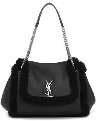 Saint Laurent Nolita Medium shearling shoulder bag