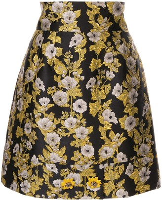 Dolce & Gabbana floral patterned high-waisted skirt