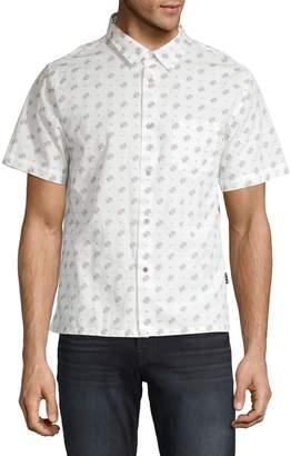 John Varvatos Trent Printed Short-Sleeve Button-Down Shirt