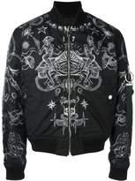 Givenchy 纹身印花飞行员夹克