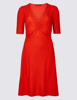 M&S Collection Textured Half Sleeve Tea Dress