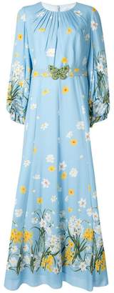 Andrew Gn floral print gown