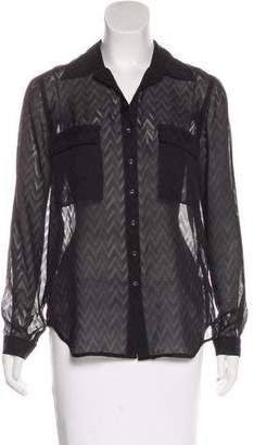 L'Agence Silk Patterned Button-Up