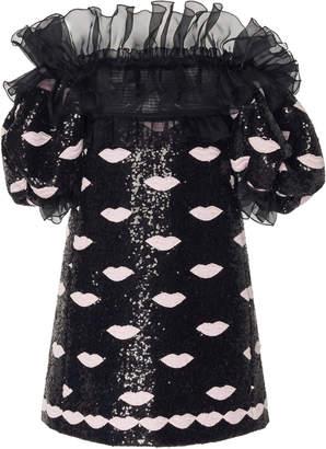 Giambattista Valli Off-The-Shoulder Sequined Mini Dress