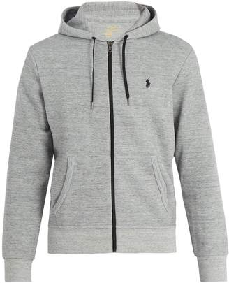 Polo Ralph Lauren Hooded zip-through interlock-jersey sweatshirt