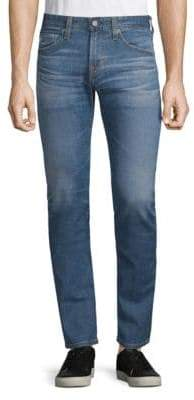 AG Adriano Goldschmied Matchbox Slim Straight Distressed Jeans