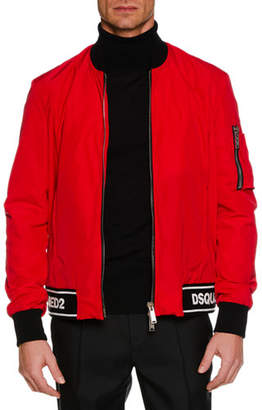 DSQUARED2 Men's Contrast-Trim Sports Jacket