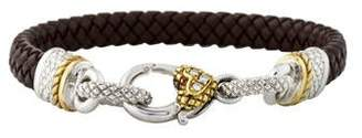 Judith Ripka Diamond & Leather Bracelet