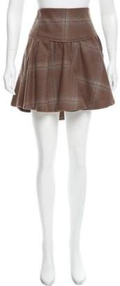 Brunello Cucinelli Wool Plaid Skirt w/ Tags