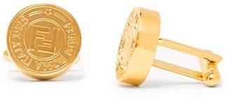 Fendi Ff Logo Cufflinks - Mens - Gold