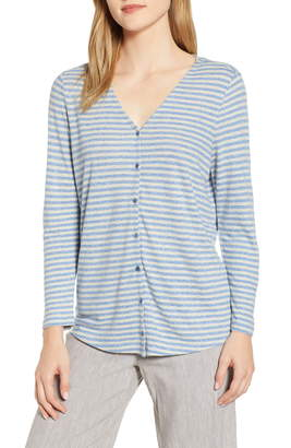 Nic+Zoe Chill Stripe Cardigan