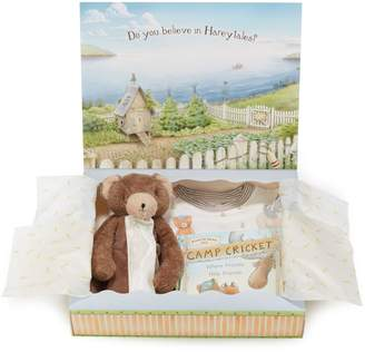 Bunnies by the Bay Cubby Sleepy Time Fitted Two-Piece Pajamas, Animal Buddy Blanket & Book Set