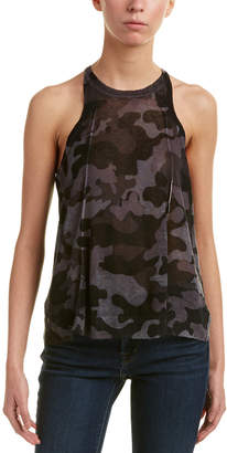 Central Park West Big Spring Linen-Blend Tank