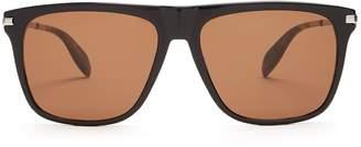 Alexander McQueen Skull-detail D-frame sunglasses