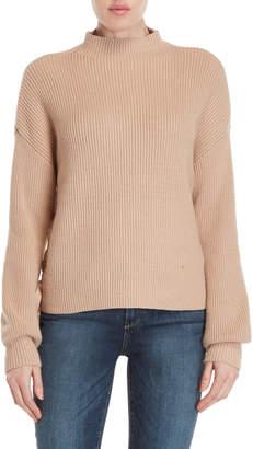 Max Studio Drop Shoulder Lace-Up Sweater