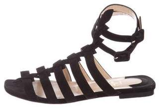 Christian Louboutin Suede Gladiator Sandals