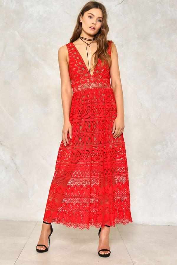 nastygal Isobel Crochet Dress
