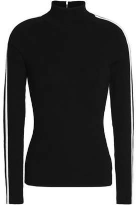 Michael Kors Ribbed Merino Wool-Blend Turtleneck Sweater