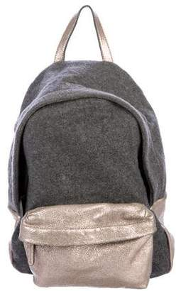 Brunello Cucinelli Metallic Wool Backpack