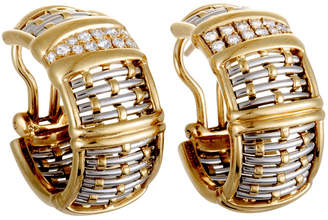 Cartier Heritage  18K Two-Tone 0.38 Ct. Tw. Diamond Earrings