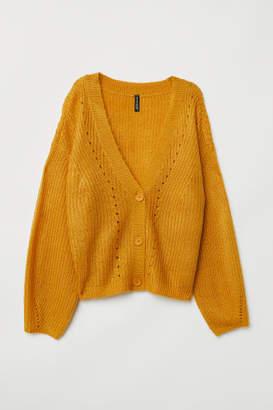 H&M V-neck Cardigan - Yellow
