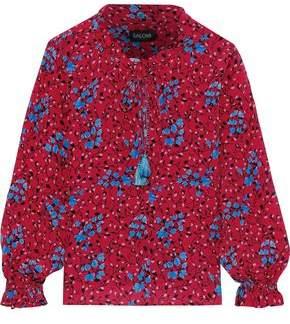 Saloni Ali Floral-print Washed-silk Blouse