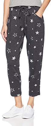 Michael Stars Women's Burnout Star Terry Cropped Joggers