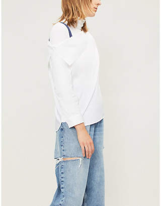 Mo&Co. One-shoulder cotton top