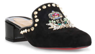 Christian Louboutin Evening sun 35 black suede mules