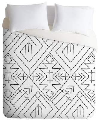 Deny Designs Vy La Cross Diamond Queen Duvet Cover - Black