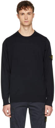 Stone Island Navy Arm Badge Logo Sweater