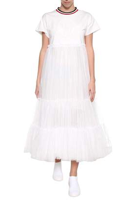 Moncler Gamme Rouge White Tulle Dress