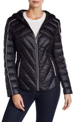 BCBGeneration Missy Short Hooded Down Jacket $178 thestylecure.com