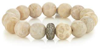 Fossil Sheryl Lowe 12mm Coral & 1-Donut Diamond Bracelet