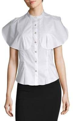 Temperley London Sunray Yoke Ruffle Blouse
