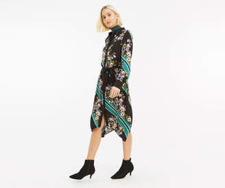 Oasis SCARF PLACEMENT SHIRT DRESS
