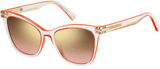Marc Jacobs Transparent Butterfly Sunglasses