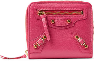 Balenciaga Pink Bi-Fold Small Leather Wallet