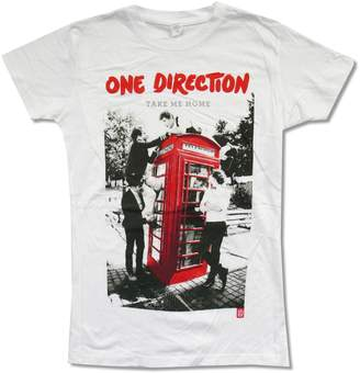 "1D Juniors One Direction ""Take Me Home"" White Baby Doll T-Shirt"