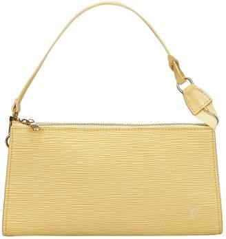 Louis Vuitton Vintage Pochette Accessoire Yellow Leather Clutch Bag